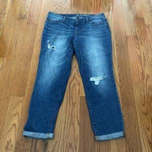 GAP FACTORY | Sexy Boyfriend Distressed Jeans